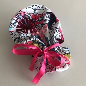Floral Scrub Cap